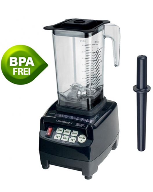 JTC OmniBlend V Professional Commercial Blender + 1 5L BPA Free Jug in Black